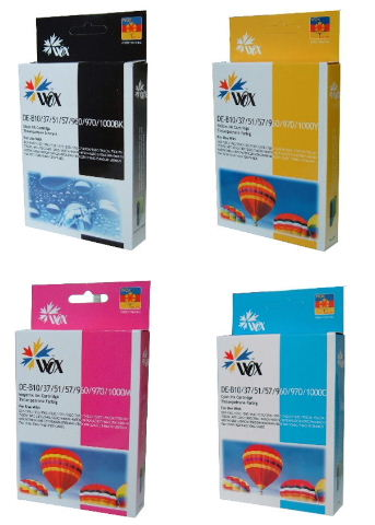 Set of 8 compatible Brother LC57 (2BK/2C/2M/2Y) ink cartridges