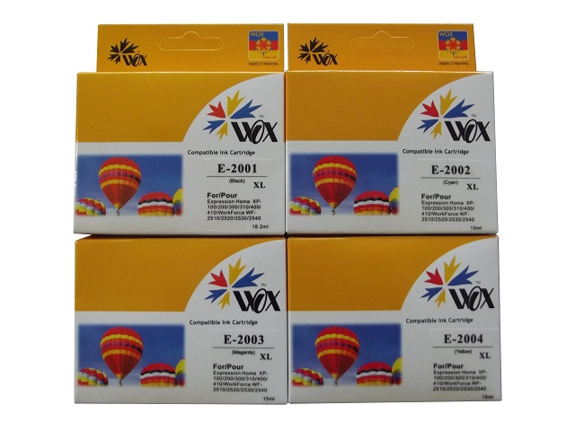 Set of 8 compatible Epson 200XL (2BK/2C/2Y/2M) ink cartridges