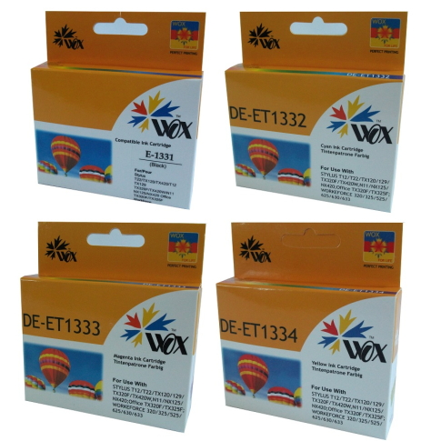 Set of 8 compatible Epson 133 (2BK/2C/2Y/2M) ink cartridges