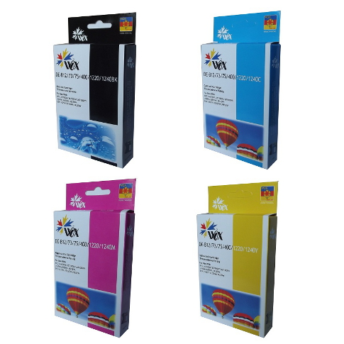 Set of 4 compatible Brother LC73 (BK/C/M/Y) ink cartridges