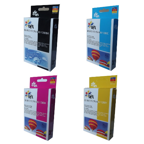Set of 4 compatible Brother LC77XL (LC73XL) ink cartridges