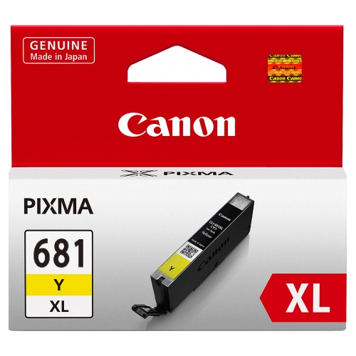 Genuine Canon CLI681XL Yellow Ink Cartridge