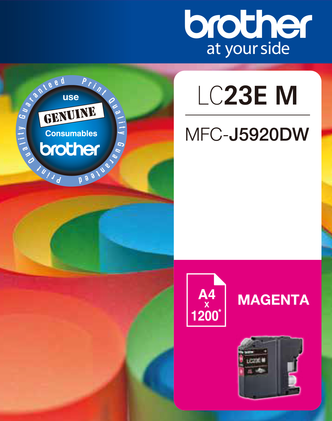 Genuine Brother LC23E Magenta Ink Cartridge