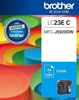 Genuine Brother LC23E Cyan Ink Cartridge
