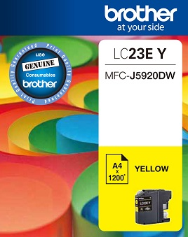 Genuine Brother LC23E Yellow Ink Cartridge
