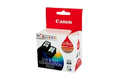 Genuine Canon PG510 & CL511 Ink Cartridges Combo Pack
