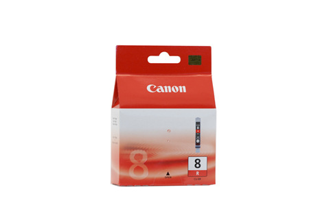 Genuine Canon CLI-8R (Red) ink cartridge