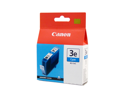 Genuine Canon BCI-3eC (Cyan) ink cartridge