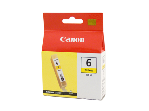 Genuine Canon BCI-6Y (Yellow) ink cartridge