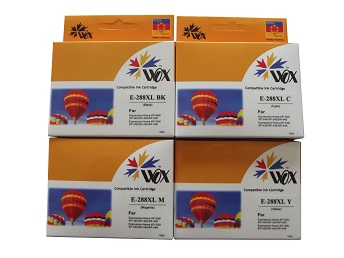 Compatible Epson 288XL ink cartridges 4 Pack (1BK/1C/1M/1Y)