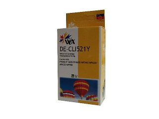 Compatible Canon CLI521Y (Yellow) ink cartridge