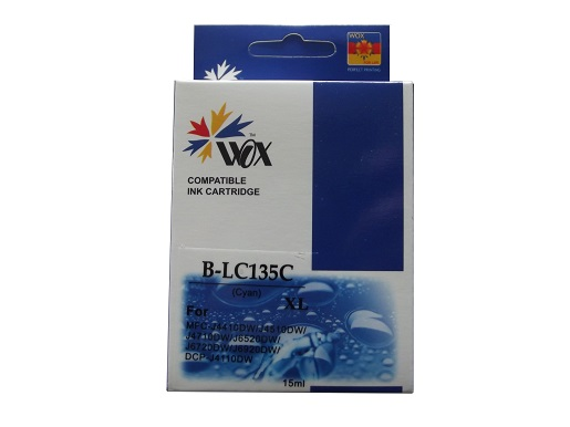 Compatible Brother LC135XLC (Cyan) ink cartridge