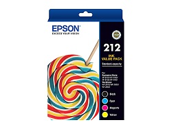 Genuine Epson 212 Value Pack (BK/C/M/Y)