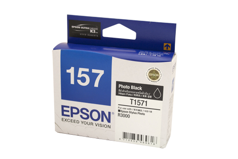 Genuine Epson 157 Photo Black ink cartridge
