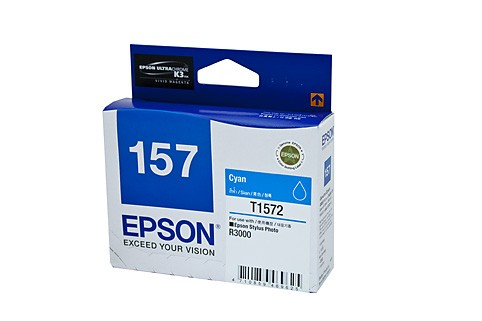 Genuine Epson 157 Cyan ink cartridge