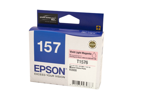 Genuine Epson 157 Light Magenta ink cartridge
