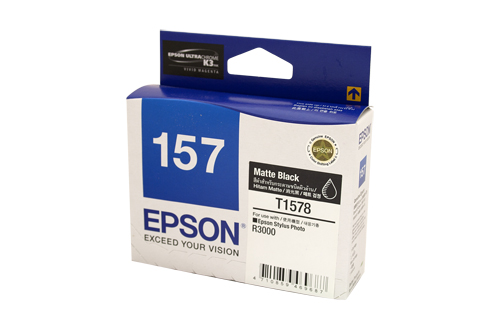 Genuine Epson 157 Matte Black ink cartridge