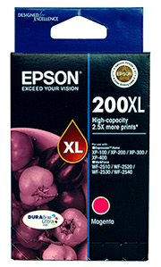Genuine Epson 200XL Magenta high-capacity ink cartridge