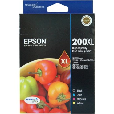 Genuine Epson 200XL Ink Cartridge Value Pack