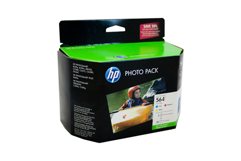 Genuine HP564 Photo Pack (C/M/Y plus photo paper)