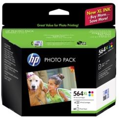 Genuine HP564XL Photo Pack (BK/C/M/Y plus photo paper)