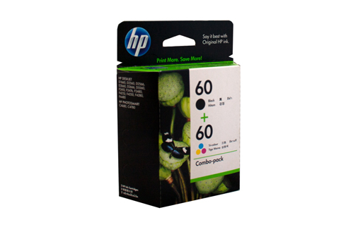 Genuine HP60 Black & Colour Pack