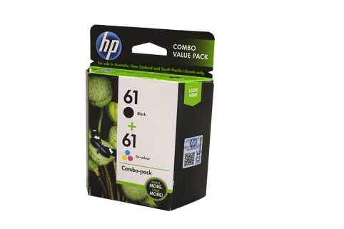 Genuine HP 61 Black & Colour Pack