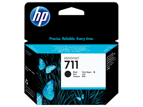 Genuine HP 711 Black Ink Cartridge (CZ133A)