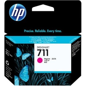 Genuine HP 711 Magenta Ink Cartridge (CZ131A)
