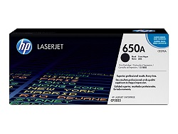 Genuine HP 650A Black toner cartridge (CE270A)