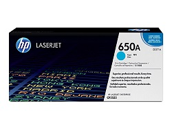 Genuine HP 650A Cyan toner cartridge (CE271A)