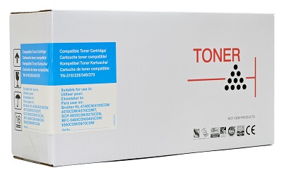 Compatible Brother TN340 Cyan laser toner cartridge