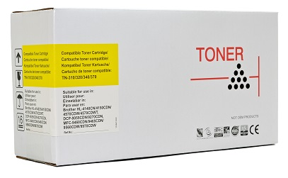 Compatible Brother TN340 Yellow laser toner cartridge