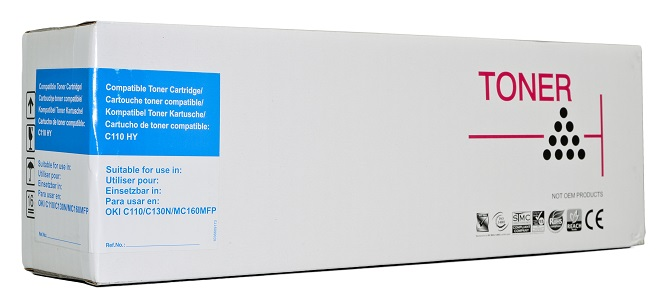 Compatible Oki C110/C130 Cyan Toner Cartridge