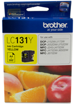Genuine Brother LC131Y (Yellow) ink cartridge
