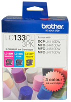 Genuine Brother LC133CL3PK (3 Colour Pack)