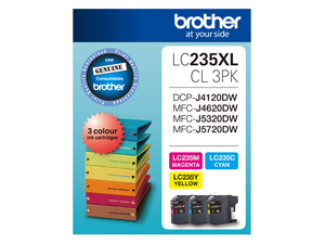 Genuine Brother LC235XLCL3PK (3 Colour Pack)