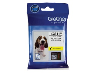 Genuine Brother LC3311Y (Yellow) ink cartridge