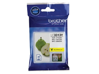 Genuine Brother LC3313Y (Yellow) ink cartridge
