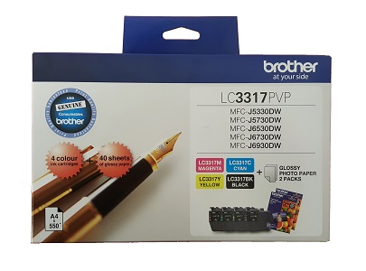 Genuine Brother LC3317 Photo Value Pack