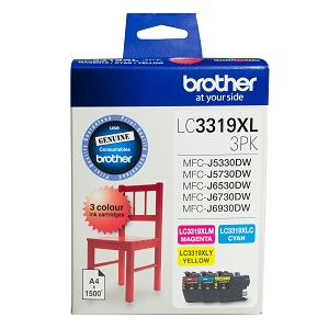 Genuine Brother LC3319XL C/M/Y Colour Pack