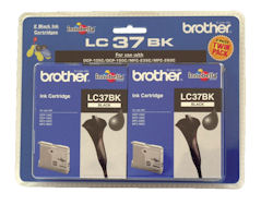 Genuine Brother LC37BK2PK (Black 2 Pack)
