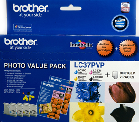 Genuine Brother LC37 Photo Value Pack