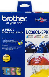Genuine Brother LC38CL3PK (3 Colour Pack)