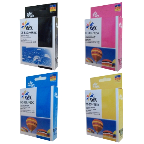 Set of 4 compatible Brother LC39 (BK/C/M/Y) ink cartridges
