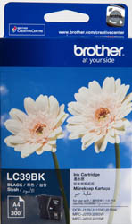 Genuine Brother LC39BK (Black) ink cartridge