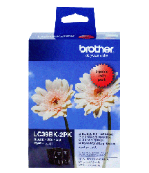 Genuine Brother LC39BK2PK (Black 2 Pack)