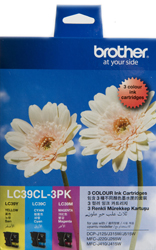 Genuine Brother LC39CL3PK (3 Colour Pack)