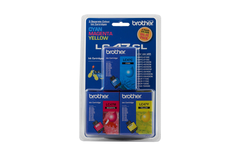 Genuine Brother LC47CL3PK (3 Colour Pack)