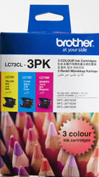 Genuine Brother LC73CL3PK (3 Colour Pack)